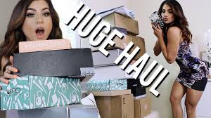 pr unboxing haul new free makeup packages swatches youtube