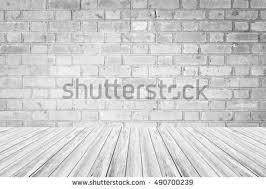 room interior white brick wall tiled stock photo 129596513