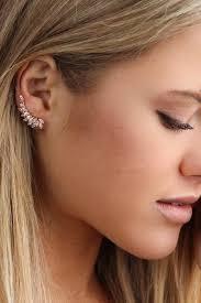 ear climber earring shashi ear climber savoir faire women s clothing