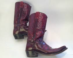 womens pink cowboy boots size 9 vintage cowboy boots etsy