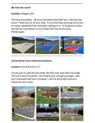 basketball court floor kit backyard 30x25