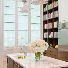 lighted glass front kitchen cabinets design ideas