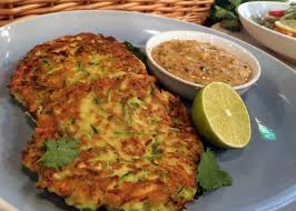 cuisine courgette phil s vickery tv simple courgette fritters with spicy peanut sauce
