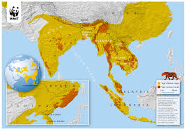 Thailand World Map by New Discovery Of Second Tiger Population In Thailand Found In Thap