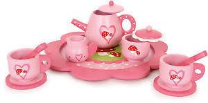 geschirr kinderküche teeservice rosa aus holz geschirr für die kinderküche 11 tlg