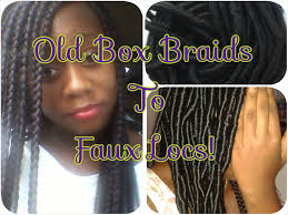 box braids vs individuals 8 how to old box braids to faux locs youtube