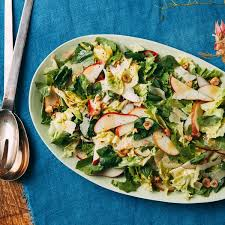 escarole pear parmesan and basil leaf salad recipe epicurious