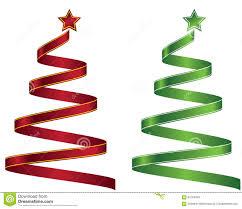 stylized ribbon christmas tree vector illustration eps 10 stock