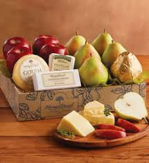 organic fruit of the month club deluxe pears apples and cheese gift cheese gifts harry david