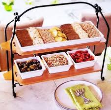 party serving tray and platter charcuterie stoneware bamboo cheese