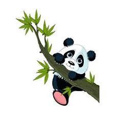 stickers panda chambre bébé stickers muraux sticker mural panda grimpant à l arbre chambre
