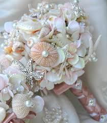 seashell bouquet summer wedding seashell bouquet 2059488 weddbook