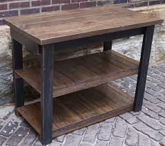 rustic kitchen islands and carts distressed black rustic kitchen island cart with open shelf to
