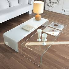 bridge curved glass coffee table by sovet italia inspiration