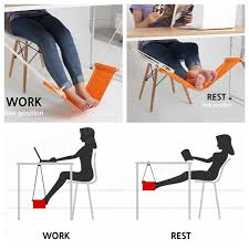 2 colors fuut desk feet hammock desk foot cot bed office home