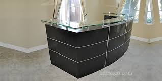 Reception Desk Black Modern Executive Desks Office Furniture Reception Counters