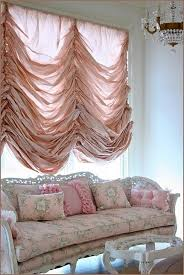 Balloon Curtains For Living Room Furniture Living Room With Pink Flower Pattern Sofa And Soft
