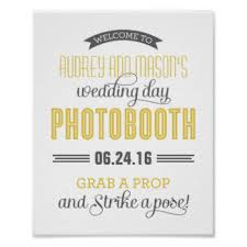 Photo Booth Sign Wedding Photo Booth Sign Posters Zazzle