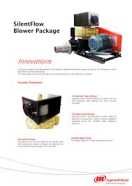 silentflow blower ingersoll rand pdf catalogue technical