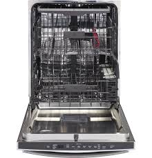 ge stainless steel interior dishwasher with hidden controls