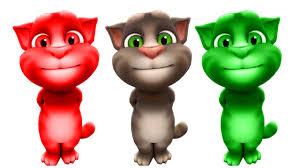 learn colors with talking tom colours for children toddlers