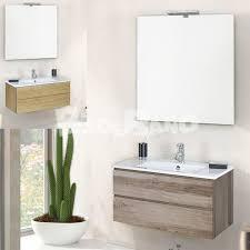 muebles de lavabo conjunto mueble con lavabo porcelana y espejo foco halógeno
