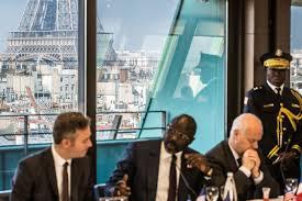 siege du medef le president du liberia au siege du medef 21 02 2018 karim daher