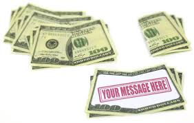 money cards bill board drop cards by promotions usa llc