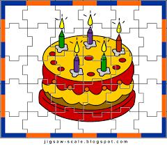 printable jigsaw puzzle for kids cake jigsaw