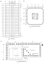 Floor Plan Of A Building A Elevation B Typical Floor Plan And C Basement Plan