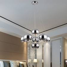 Stainless Steel Kitchen Light Fixtures Reviews Modern Pendant Lamp Chrome Bar Shop Dining Room Kitchen