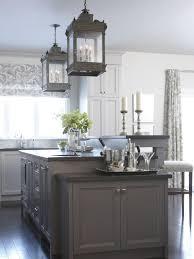 gray kitchen island a gray kitchen island and honed granite countertops add warmth to