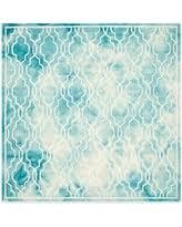 great deal on safavieh dip dye link trellis 7 u0027 square area rug in