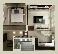 Studio Apartment Floor Plans - Design for one bedroom apartment