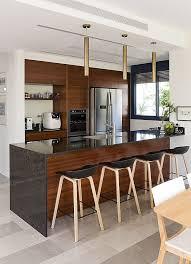 mahogany kitchen island family home in rehovot ronit kfir interior design mahogany kitchen