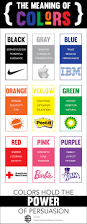 the meaning of colors infographic