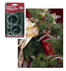 Banister Decorations Pack Of 8 Banister U0026 Railing Clips For Christmas Decorations