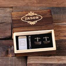 box personalized gentleman s gift set in wood gift box personalized