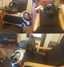 Leather Poang Chair Turned An Ikea Poäng Chair Into A Psvr Driving Rig X Post From R