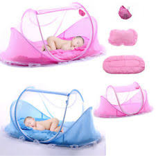 portable crib netting baby travel bed with music mosquito net