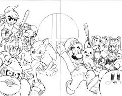 download super smash brothers coloring pages ziho coloring