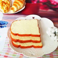1pcs jumbo squishy soft scent sliced bread toast kids toy hand