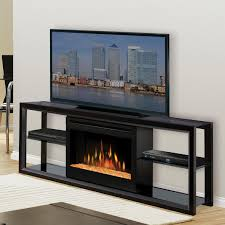 furniture black wooden electric fireplace entertainment cabinet