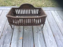 Cast Iron Fireplace Insert by Antique Cast Iron Fireplace Grate Coal Box Basket Wood Log Holder