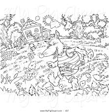 big bad wolf coloring page contegri com