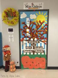 Fall Themed Speech Room Door Speech Room Style