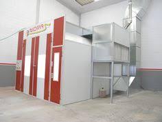 chambre de peinture automobile cabina de pintura de automóviles y zona de preparación automobile
