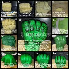 hulk fist tutorial cakes pinterest cake birthday cakes and