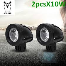 led driving lights for trucks 2pcs 10w spot mini led work light 2 inch round led driving lights