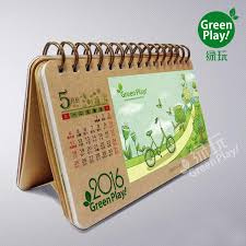 Desk Calendar Design Ideas 2017 Kraft Paper Desk Calendar With Green Design Printed Creative